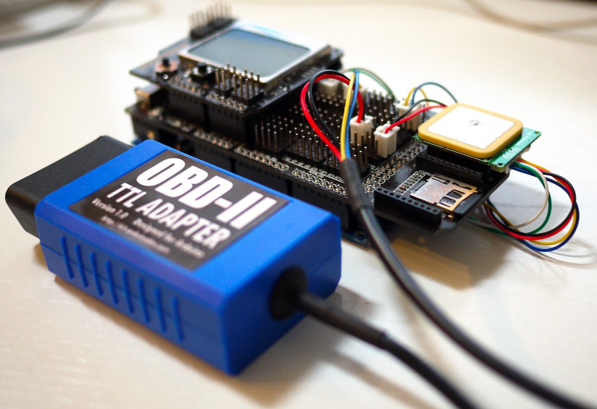The ultimate gps and obd ii data logger based on arduino